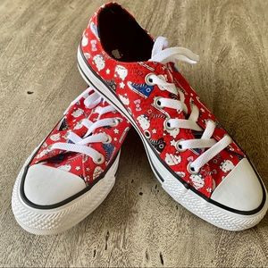 """**Converse All Star """"Hello Kitty"""" Red & Whi…"""